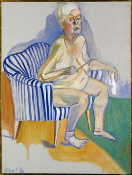 pittura, autoritratto, alice neel, invecchiare, arte terapia