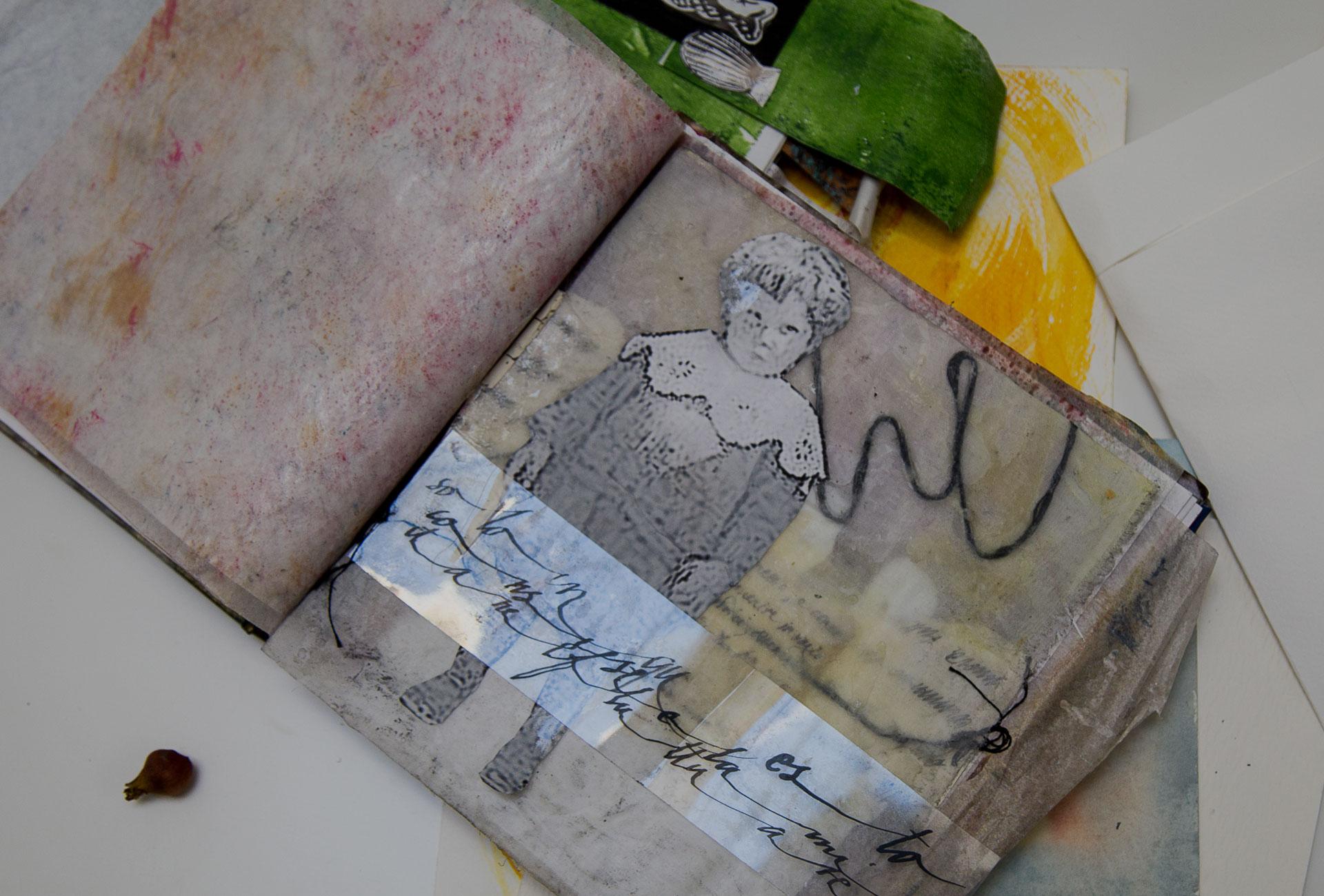 collage, storie di famiglia, laboratori espressivi